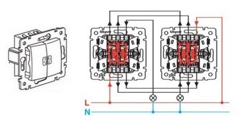 Schneider схема подключения выключателя
