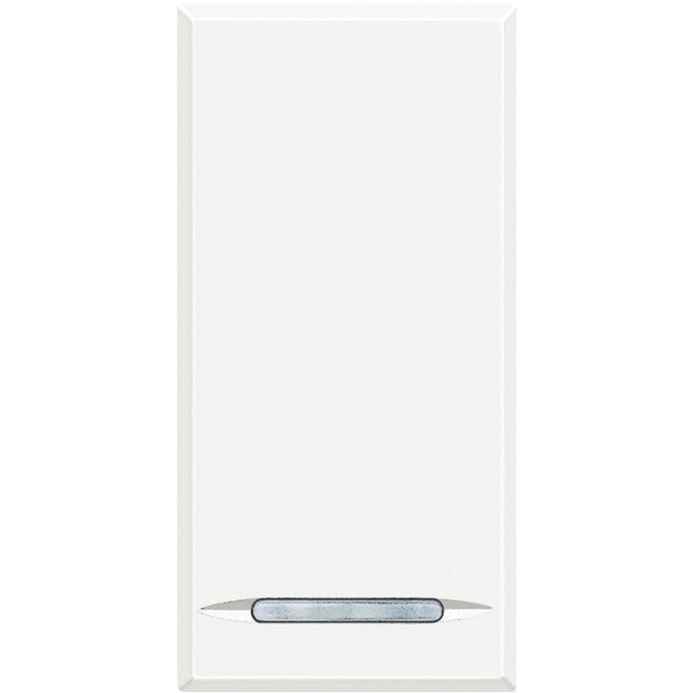 Кнопочный выключатель традиционный 16 А 250 В~ 1 модуль. Цвет Белый. Bticino AXOLUTE. HD4055
