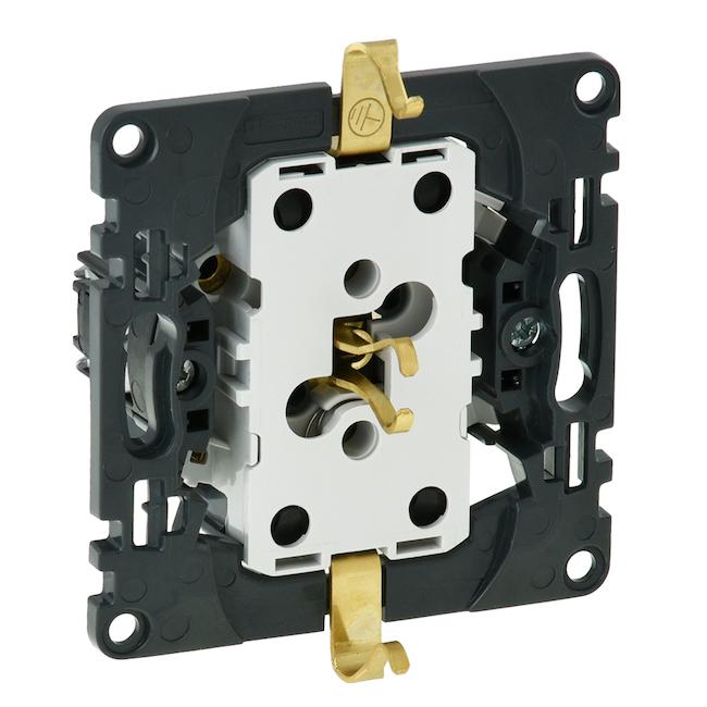 Механизм розетки электрической с заземлением двойной 2х2К+З с защитными шторками безвинтовые зажимы 16А 250 В~. Legrand Valena Life/Allure(Легранд Валена Лайф/Алюр). 753031