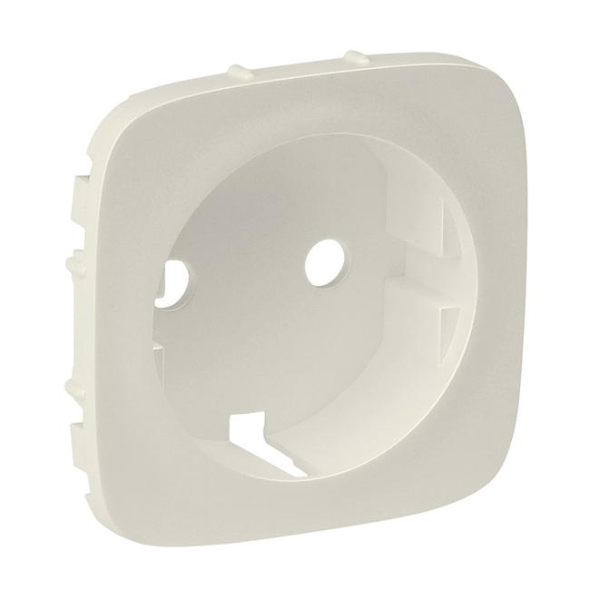 Лицевая панель розетки 2К+З. Цвет Слоновая кость. Legrand Valena Allure(Легранд Валена Алюр). 755206