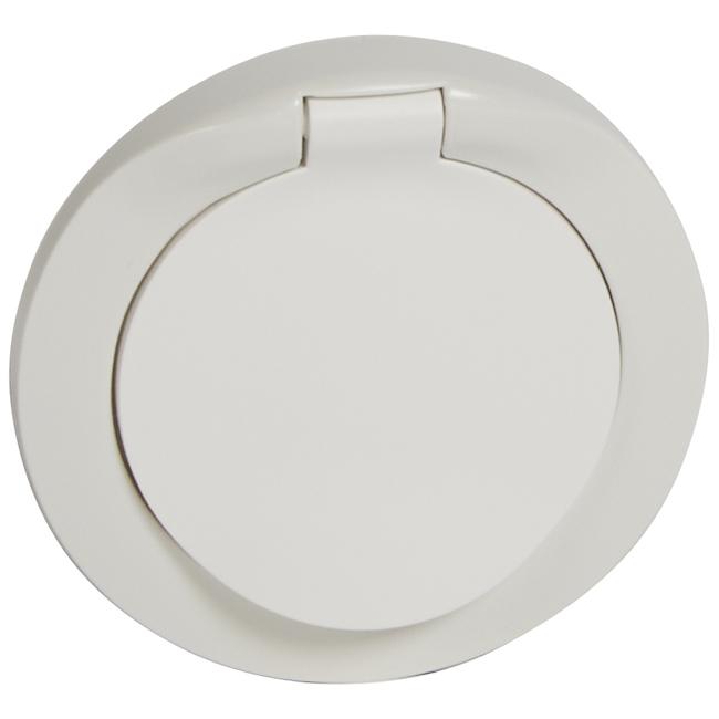 Лицевая панель для розетки 2К+3 немецкого стандарта с защитной крышкой - IP 44. Цвет Белый. Legrand Celiane(Легранд Селиан). 067841