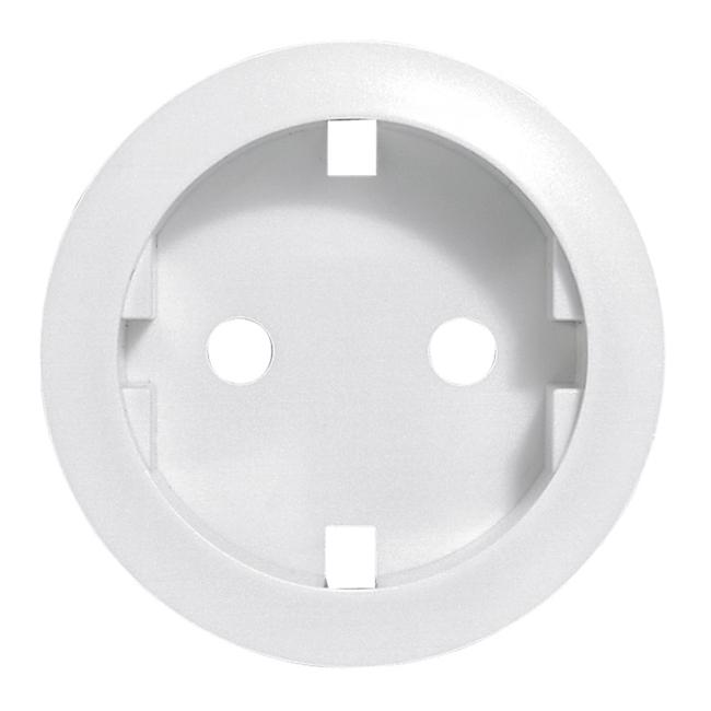Лицевая панель розетки электрической2К+З немецкого стандарта Кат. № 067153/61. Цвет Белый. Legrand Celiane(Легранд Селиан). 068131