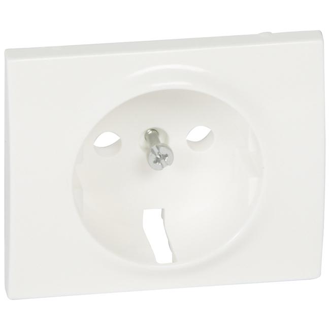Лицевая панель для розетки электрической 2К+З. Цвет Белый. Legrand Galea Life (Легранд Галея Лайф). 777020