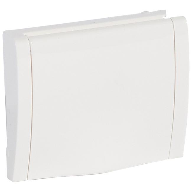Лицевая панель для розетки электрической 2К+З - с защитными шторками + крышка. Цвет Белый. Legrand Galea Life (Легранд Галея Лайф). 777022