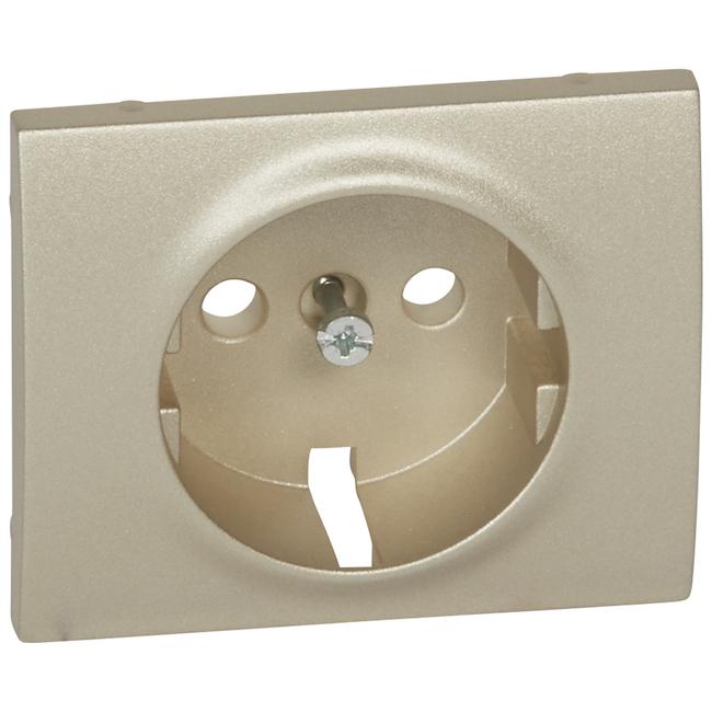 Лицевая панель для розетки электрической 2К+З. Цвет Титан. Legrand Galea Life (Легранд Галея Лайф). 771420